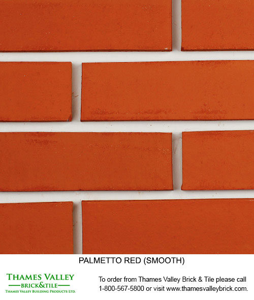 Red Smooth & Red Scratch - Palmetto Facebrick - Red Brick