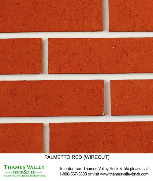 Red Wirecut - Palmetto Facebrick - Red Brick