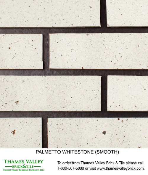 Whitestone Wirecut - Palmetto Facebrick - white brick