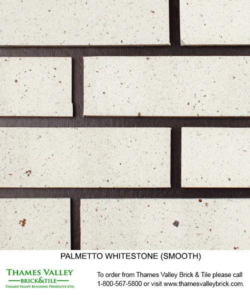 Whitestone Wirecut - Palmetto Facebrick - white brick
