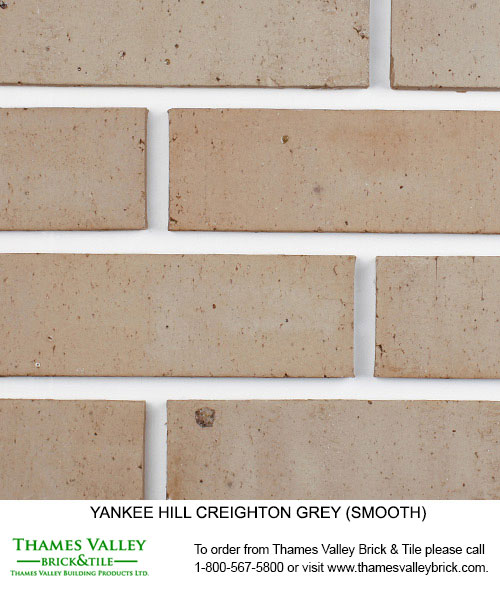 Creighton Gray - Yankee Hill Facebrick - Grey Brick