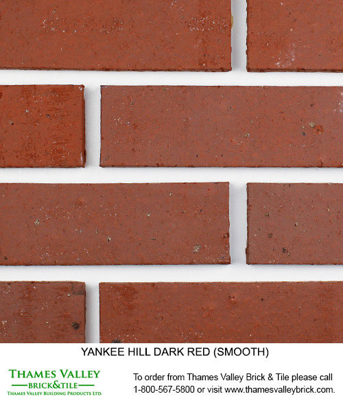 Dark Red - Yankee Hill Facebrick - Red Brick