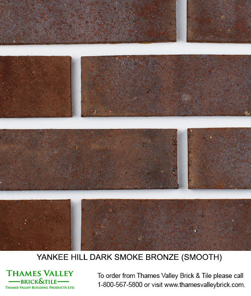 Dark Smoke Bronze - Yankee Hill Facebrick - Brown Brick