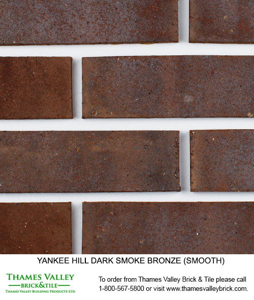 Dark Smoke Bronze - Yankee Hill Facebrick - Brown Brick