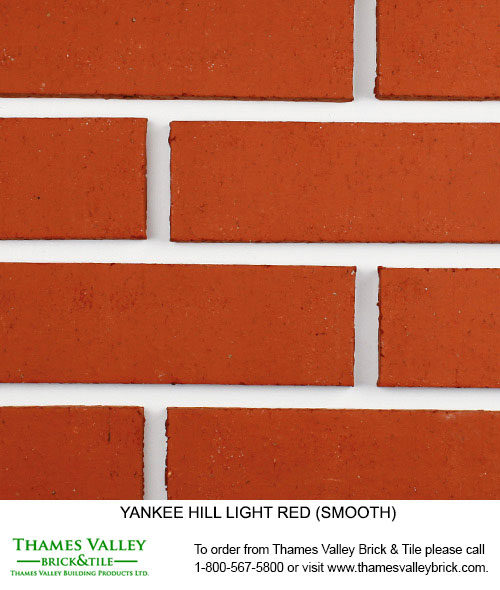 Light Red - Yankee Hill Facebrick - Red Brick