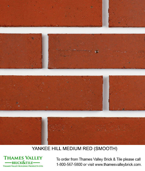 Medium Red - Yankee Hill Facebrick - Red Brick