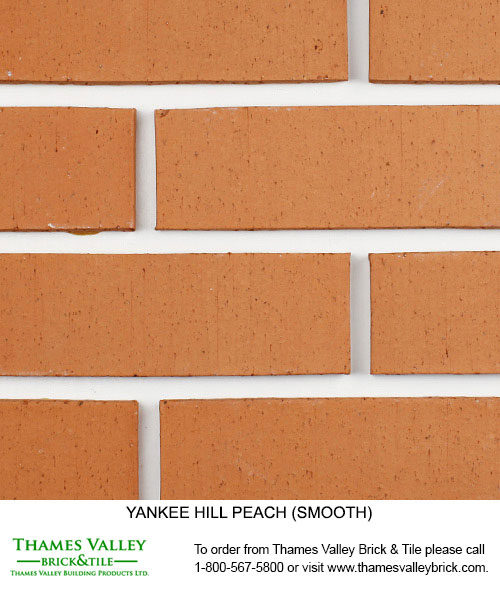 Peach - Yankee Hill Facebrick - Coral Rose Brick