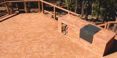 Iron Oxide Split Paver Patio - by Summit Brick Company