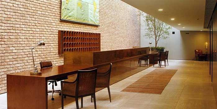 Lobby of Hotel Fasano by Old Carolina Brick Co